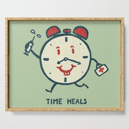 Time heals Serving Tray