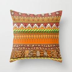Yzor pattern 012 rich summer Throw Pillow