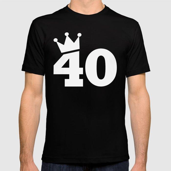 136ac27752db Crown 40th birthday T-shirt by yu2 | Society6