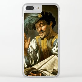 "Dirck van Baburen ""A young man singing"" Clear iPhone Case"