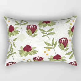Waratah and Eucalyptus Rectangular Pillow