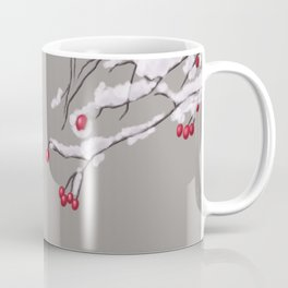 Winter Berries Branches Covered In Snow Coffee Mug