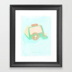 80's Driving test Framed Art Print