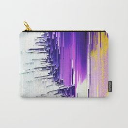 color splash purple indigo white yellow black abstract digital painting Carry-All Pouch