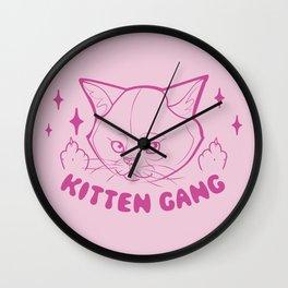 Kitten Gang Wall Clock