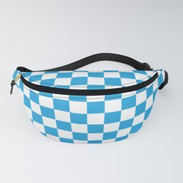 Oktoberfest Bavarian Large Blue and White Checkerboard Fanny Pack