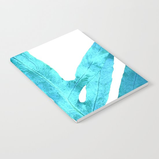 Ocean Blue Fern Notebook
