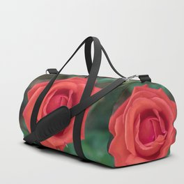Red Rose Close Up Duffle Bag