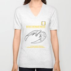 Cylon Raider Service and Repair Manual Unisex V-Neck