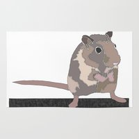 rat Area & Throw Rugs featuring Rat by AJVicoso