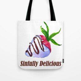 Sinfully Delicious Chocolate Covered Strawberry Tote Bag