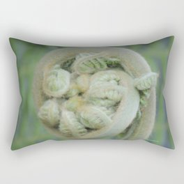 Furled Fern Soon to Unfurl Rectangular Pillow