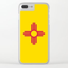 New Mexico Flag Clear iPhone Case
