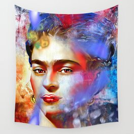 Frida Kahlo Painted Wall Tapestry