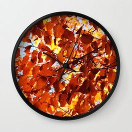 Flooded with light Wall Clock