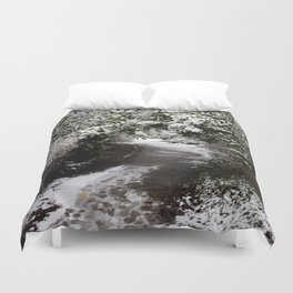 Snowy Path in The Trees Duvet Cover