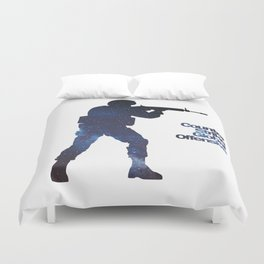 Space Army - Counter Strike Duvet Cover