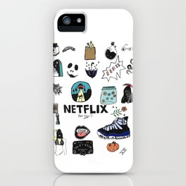 netflix and kill in color iPhone Case