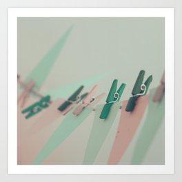 on the line Art Print