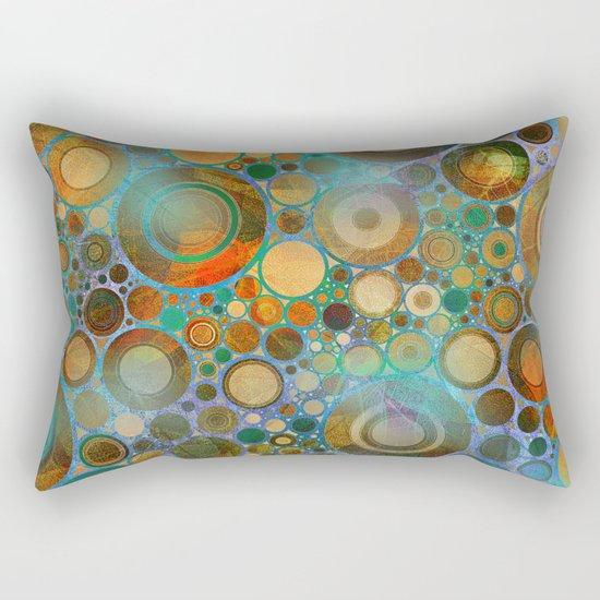 Abstract Circles Pattern Rectangular Pillow