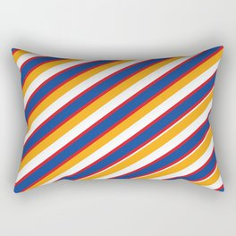 Red, yellow and blue Rectangular Pillow