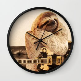 Rock Star Sloth 2# Wall Clock