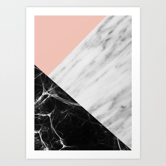 Marble Collage Art Print