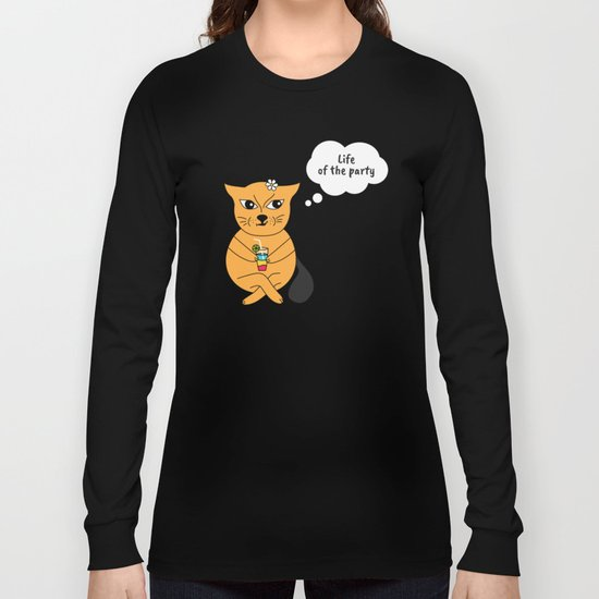 Beatrice. The cat that thinks... Party Long Sleeve T-shirt