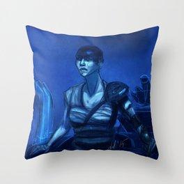 Furiosa in Blue Throw Pillow