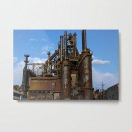 Bethlehem Steel Blast Furnaces Metal Print