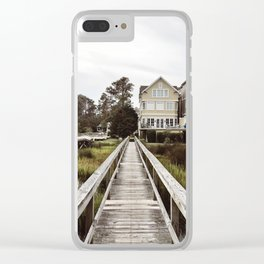 A Southern Beach Boardwalk Clear iPhone Case