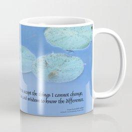 Serenity Prayer Pink Water Lily Coffee Mug