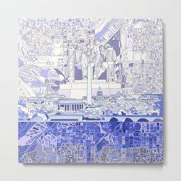 washington dc city skyline Metal Print