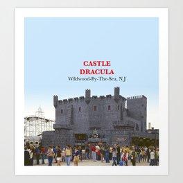 Castle Dracula on the Boardwalk in Wildwood, New Jersey Art Print