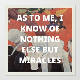 miracles Canvas Print