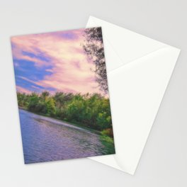 Lake in the nature reserve Stationery Cards