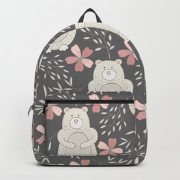 Bear and Flowers Backpack