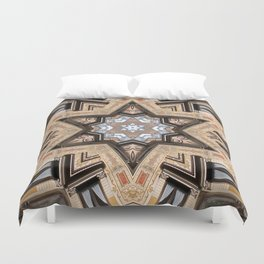 Architectural Star of David Duvet Cover