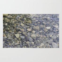 River + rocks Rug