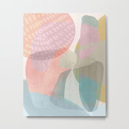 Shapes and Layers no.16 - Watercolor and pastel abstract painting Metal Print