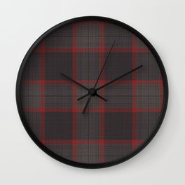 The Cannibal's Dark Taupe and Red Plaid Suit Wall Clock