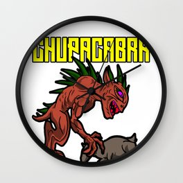 Chupacabra Goatsucker Animal Monster Cryptide Gift Wall Clock