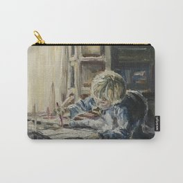 Young artist Print Original Oil Painting On Canvas Cozy Home Carry-All Pouch