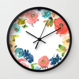 Floral POP #2 Wall Clock