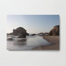 Beach at Fort Bragg, Northern California Metal Print