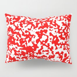 Small Spots - White and Red Pillow Sham