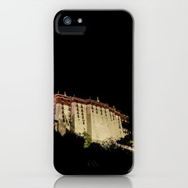 The Potala palace at night, Tibet, Buddhist monastery (2016-6T11) iPhone Case