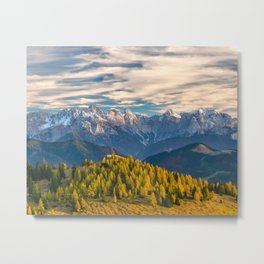Mountains on the Background Metal Print
