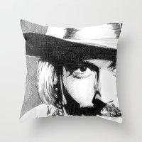johnny depp Throw Pillows featuring Johnny Depp by DeMoose_Art