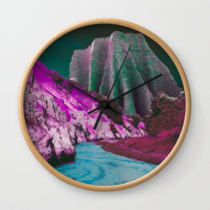 Velvet Mountains Wall Clock